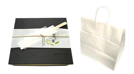 すきやき、サーロインステーキA5、外箱と紙袋