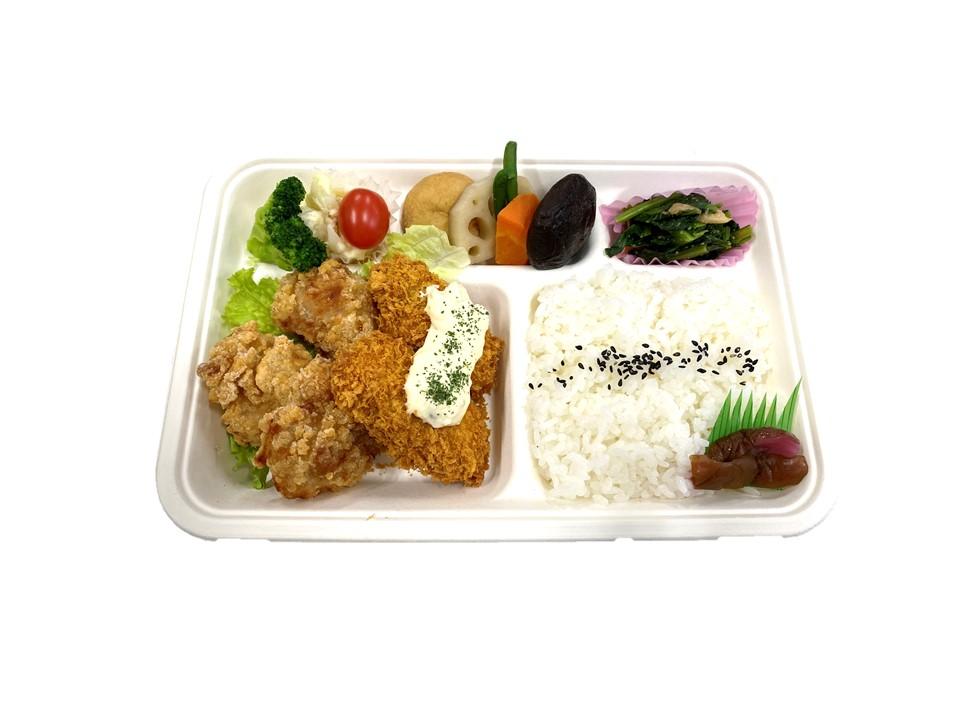 カキフライと若鶏もも竜田揚げ弁当