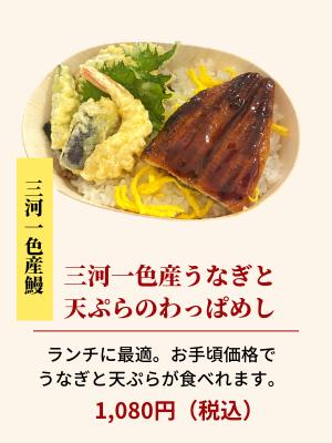 うなぎと天ぷらわっぱ