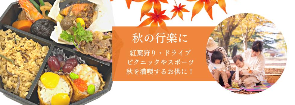 秋の行楽弁当